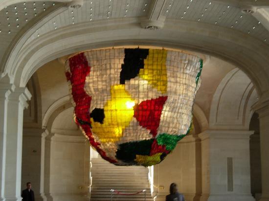 Palais des Beaux-Arts de Lille : Great lampshades!! Inside.