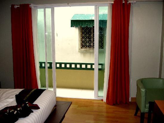 """Bhukitta Hotel & Spa: My """"interesting"""" balcony view"""
