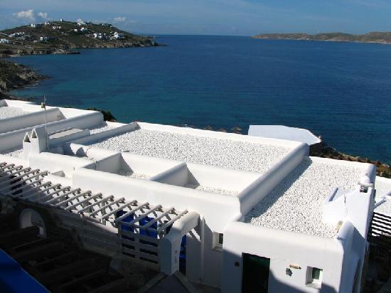 Mykonos Grand Hotel & Resort: Vue du dessus