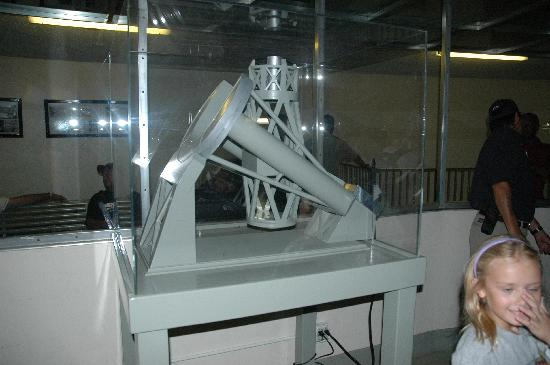 Palomar Mountain, Калифорния: Miniature Hale Telescope Model