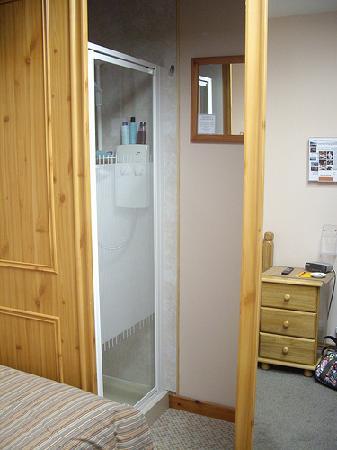Eildon Guest House: Toilet is behind the mirror sliding door