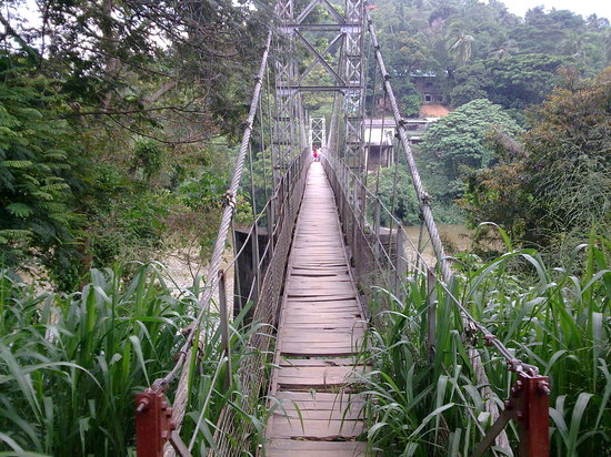 Kandy, Sri Lanka: A cable bridge