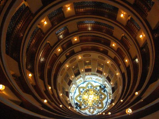 Rosewood Jeddah : The atrium, looking down.