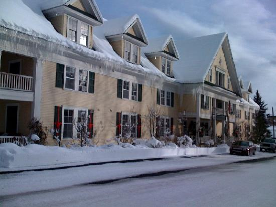 McCloud Hotel in January Snow