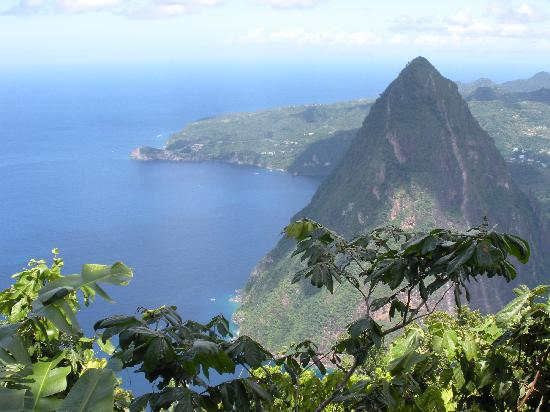 Ti Kaye Resort & Spa: we did the piton climb... view from the top