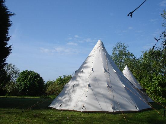 Middle Piccadilly Rural Retreat: tepees in the morning sun