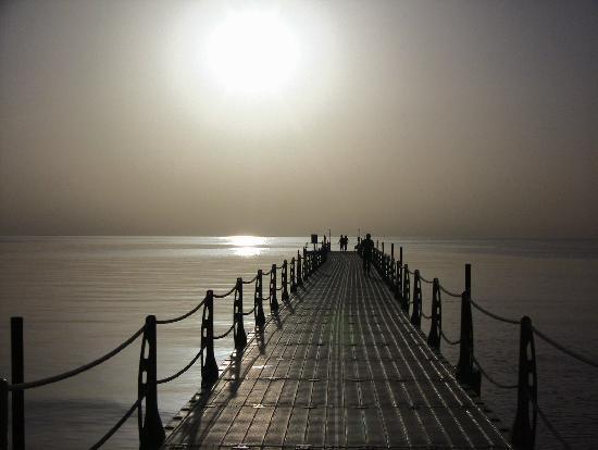 Albatros Palace Resort Hurghada: Le ponton à l'aube