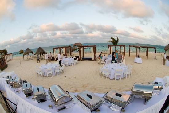Azul Beach Resort Riviera Maya The Bbq Set Up Food Was