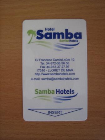 Hotel Samba : Clef chambre