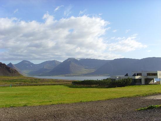 Hotel Sandafell: Looking across Dyrafjord towards Thingeyri
