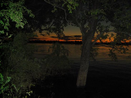South Africa: Sun Down over the Zambezi - A view through our bedroom