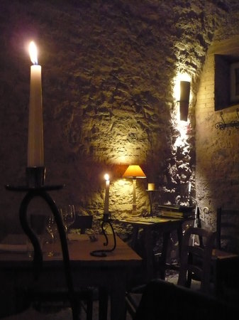 San Casciano dei Bagni, Italien: cena a lume di candela