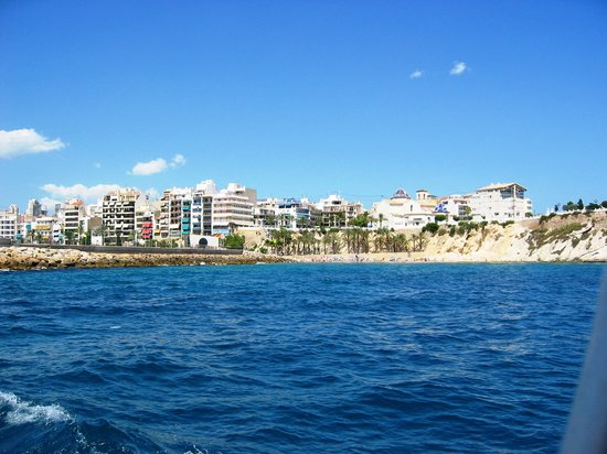 View of Benidorm from sea