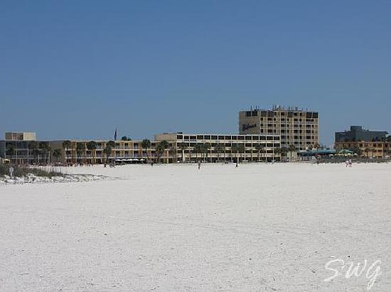 The hotel as seen from the beach