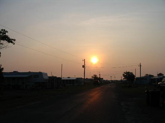 Treasure Beach RV Park and Campground: sunrise over the campground