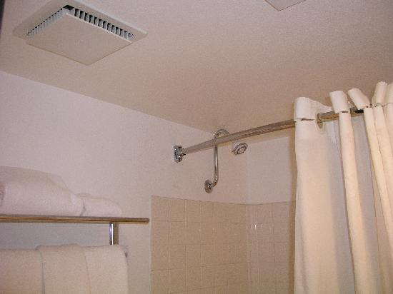 Best Western InnSuites Yuma Mall Hotel & Suites: bowed shower curtain