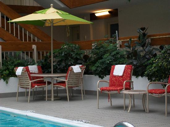 Saddle Brook Marriott: Side of Pool Set Up - Cute!