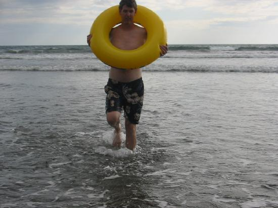 Las Lajas Beach Resort: Me with pool toy playin in the waves