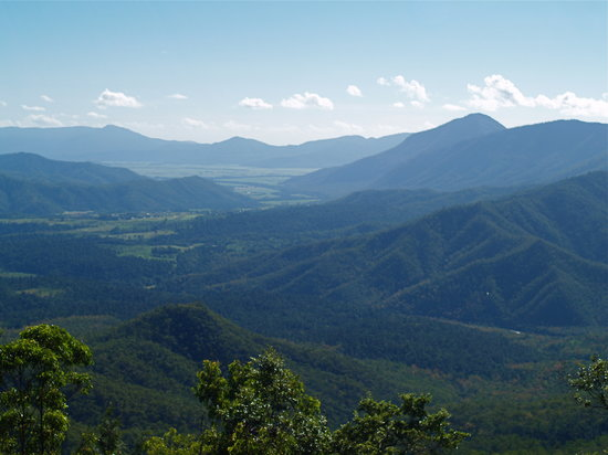 Cairns Region, Australia: 高原に行く途中の見晴らし