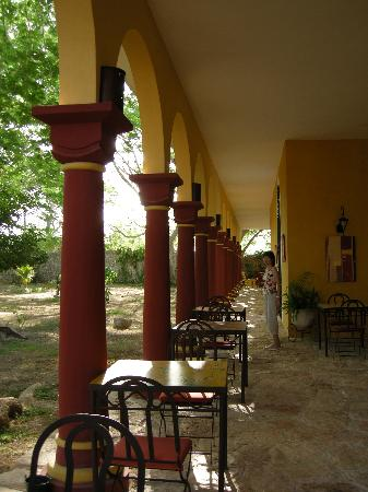 Hacienda Santa Cruz: テラスのレストラン