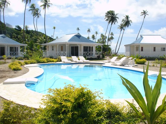 Opoa Beach Hotel: Piscine