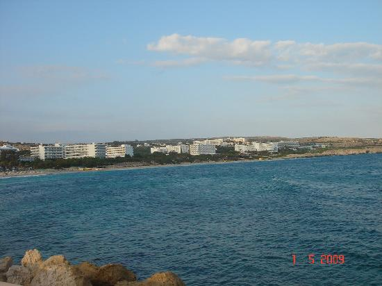 Atlantica Club Sungarden Hotel: View from Harbour, SunGarden is the last hotel to the right