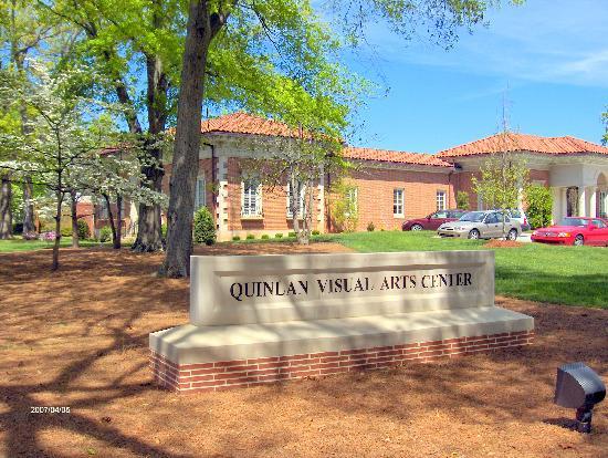 Quinlan Visual Arts Center on historic Green Street, Gainesville, GA.