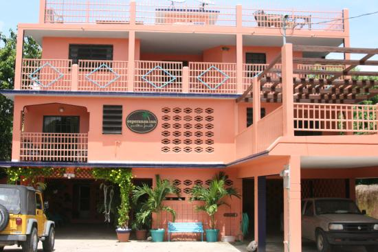 Front of the Esperanza Inn in Vieques