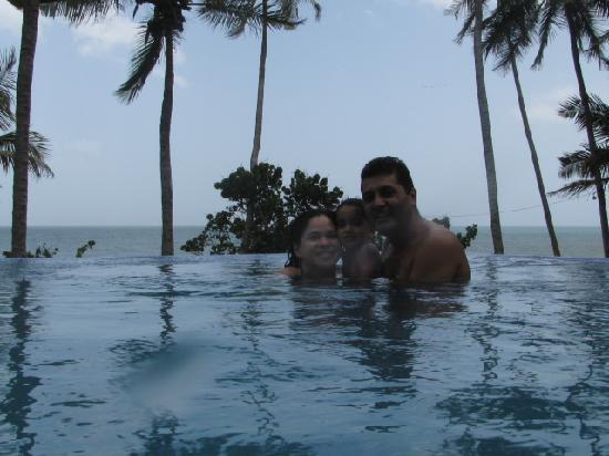 Posada Caribana: Con mi familia en playa de Uva