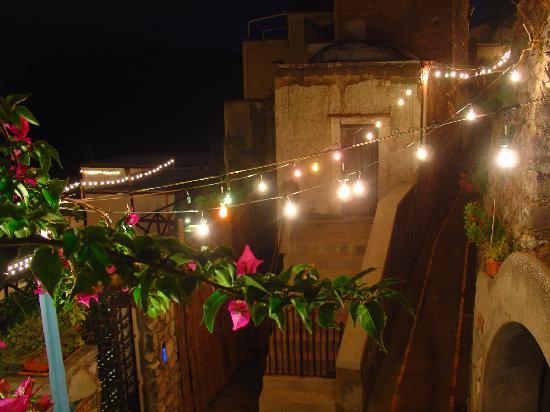 Casa Cuccaro B&B: lights in village (night-time), from B&B patio