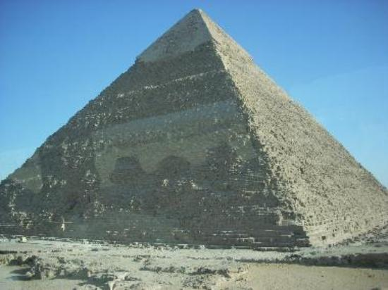 Khafre's Pyramid is only slightly smaller than the Great Pyramid.