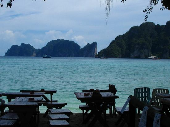 Phi Phi Andaman Legacy: The view from the Hippies Bar, where I had my first beer on Phi Phi. The island you can see is P