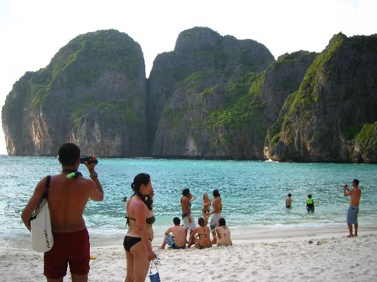 """Phi Phi Andaman Legacy: Maya Bay on Phi Phi Lei. This is where they filmed, """"The Beach."""" Definitely worth the trip to se"""