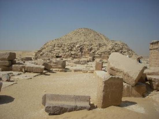 The Pyramid of Unas lies just below the Djoser complex at Saqqara.