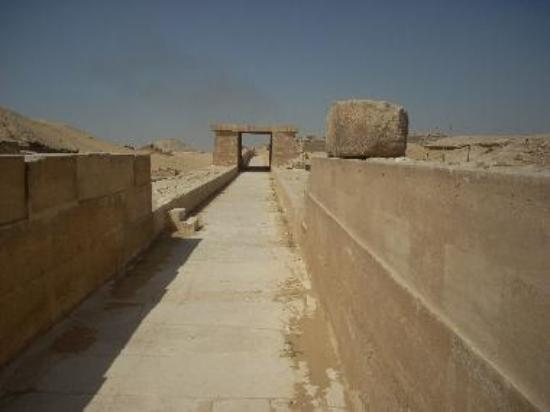 This causeway leads from Unas' Valley Temple to his pyramid.