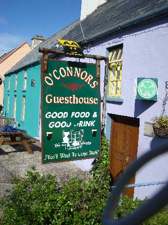 O'Connor's Guesthouse: the welcome sign