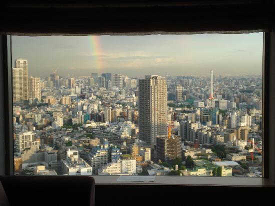โรงแรมเซรูลีน ทาวเวอร์ โตเกียว: The view from our room window!
