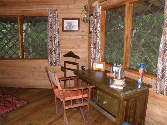 Jacana Safari Lodge: desk in room