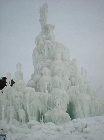 San Candido, Italia: Scultura di ghiaccio