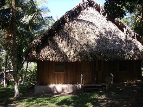 El Guacamayo Camp Ground: Thatch roofed Cabana (4 plex)