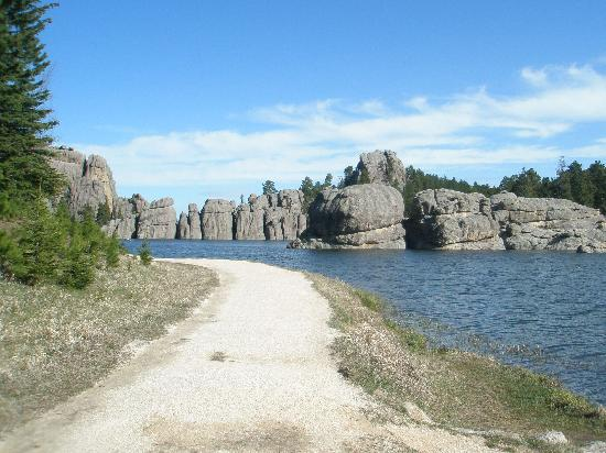 Sylvan Rocks Climbing School: sylan lake where course is located