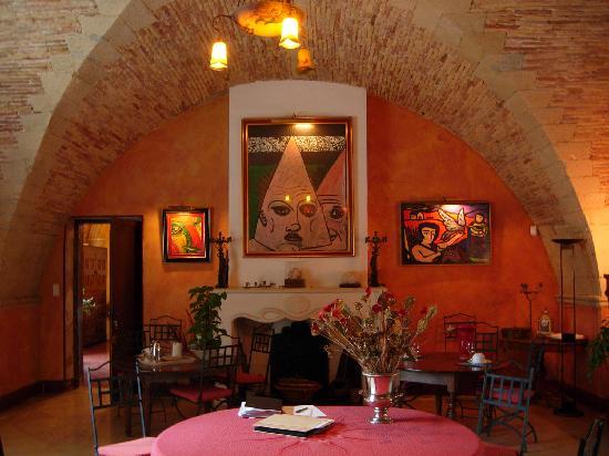 Domaine du Grand Malherbes : salle petit déjeuner