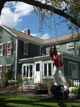 1886 House: swinging in front of the house