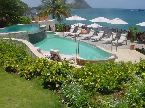 Cap Maison: Resort pool with Caribbean in background