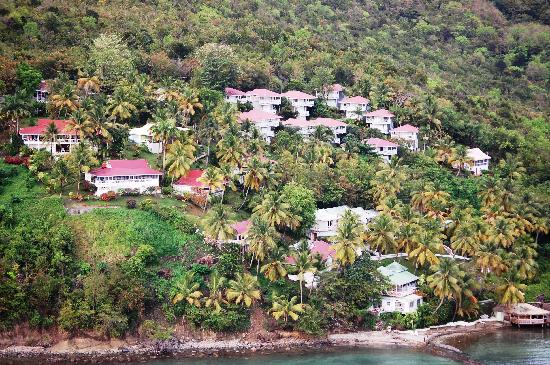 Oasis Marigot: Oasis Vacation Club and resort view from Emerald Villa/ Caribbean Blue