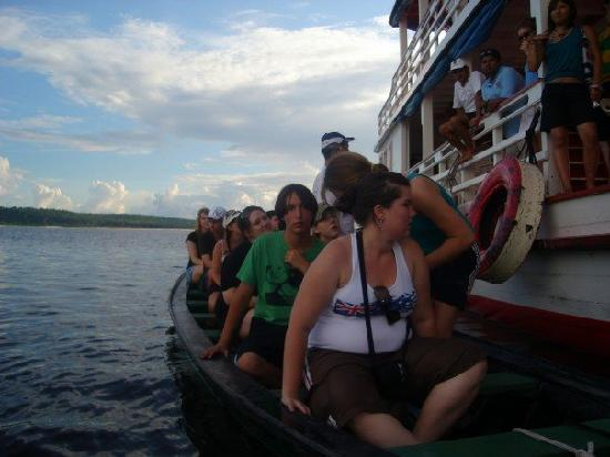 Amazon River: our boat