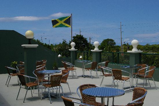 The Irish Rover Pub: Rooftop view at Irish Rover