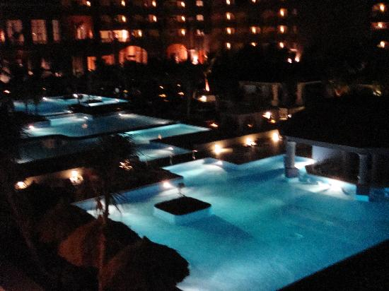 Iberostar Grand Rose Hall: The Pool at nighttime