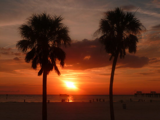 ‪‪Sarasota‬, فلوريدا: SUNSET AT CLEARWATER FLORIDA‬