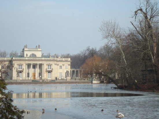 Warschau, Polen: Palace on the Lake